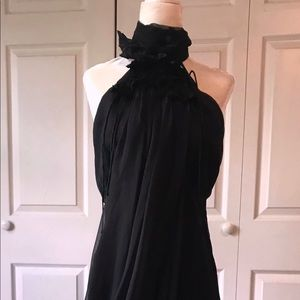 🖤Catharine Malandrino Couture-Silk Halter Dress